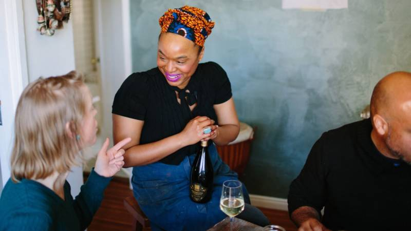 Monifa Dayo left Oakland—and her popular supper club get-togethers in the city—before the 2020 election.
