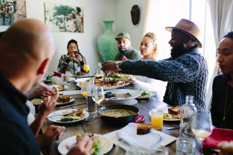 A scene from one of Monifa Dayo's supper clubs in Oakland.