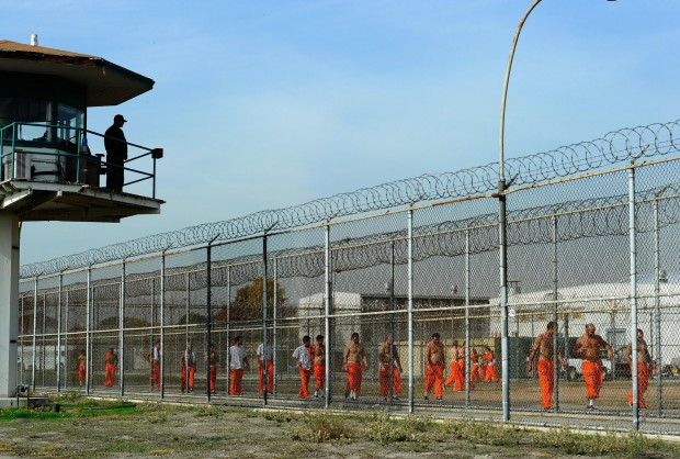 State prison inmates in Chino by Kevork Djansezian/Getty