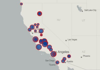 Map Of California Prisons.California S 33 State Prisons And The People Inside Them