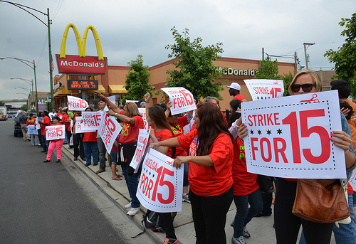 Fast-Food Workers Fight for A Living Wage