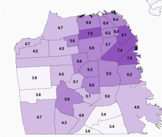Map San Franciscos Affordable Rent Gap Is Enough to Make You Sick