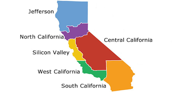 If California Split Into Six States This Is What It Would