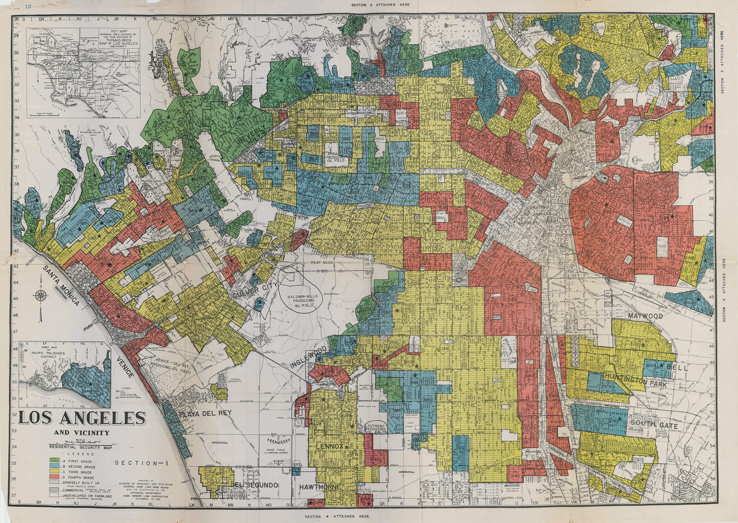 How Government Redlining Maps Encouraged Segregation In California - Los angeles map westwood