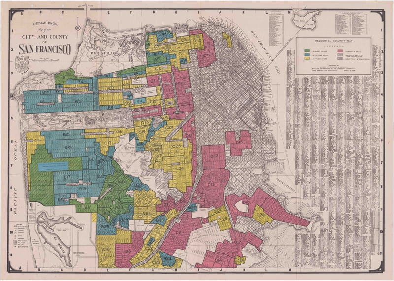 How Government Redlining Maps Encouraged Segregation in California