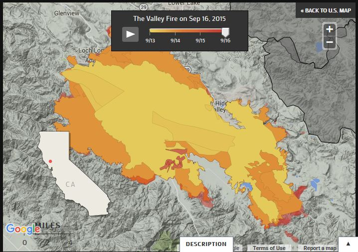 MAP Tracking Napas Valley Fire The Lowdown KQED News - Us wildfire map