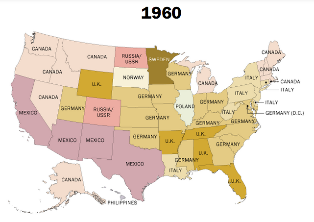 How A YearOld Immigration Law Helped Change The Face Of - Animated map of immigrants to us