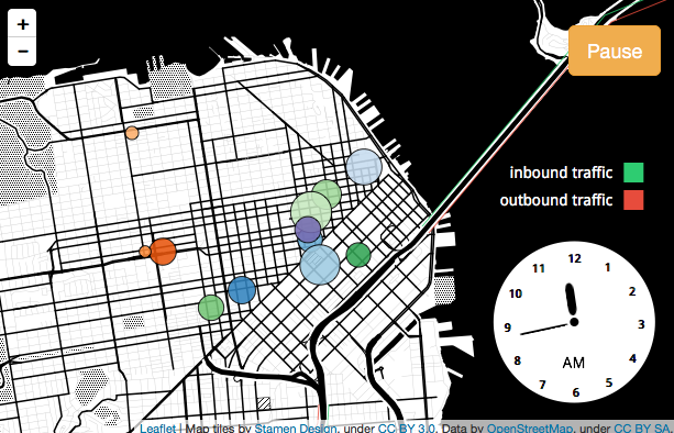 Visualization: How San Francisco's Population Changes Throughout the Day