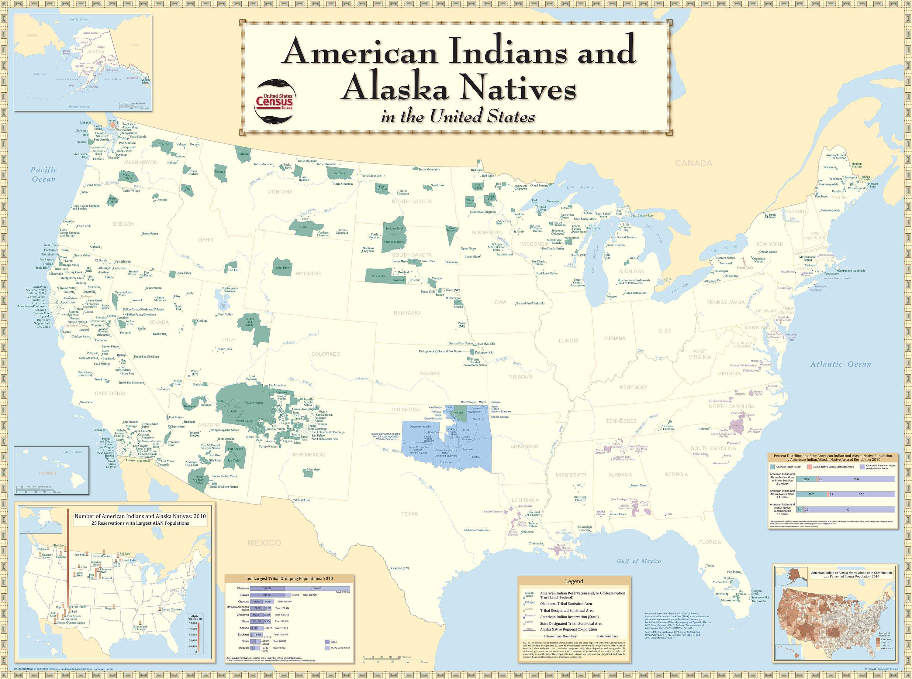 censusscope demographic maps american indian population maps of