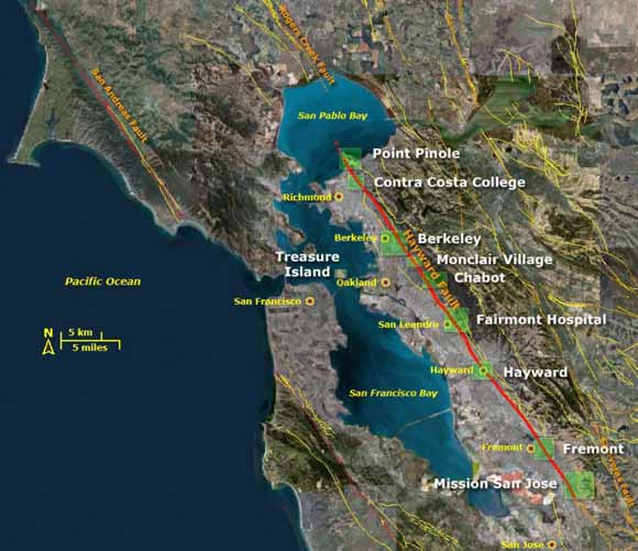 the hayward fault courtesy of usgs bay area