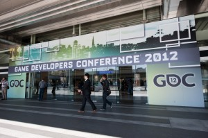 People outside at the Game Developers' Conference at the Moscone Center in San Francisco. (Official GDC: Flickr)
