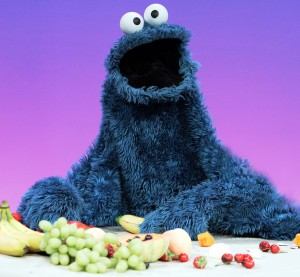 Cookie Monster, now a fruit advocate, will be discussing the importance of eating in moderation at TEDMED. (Photo: PBS)