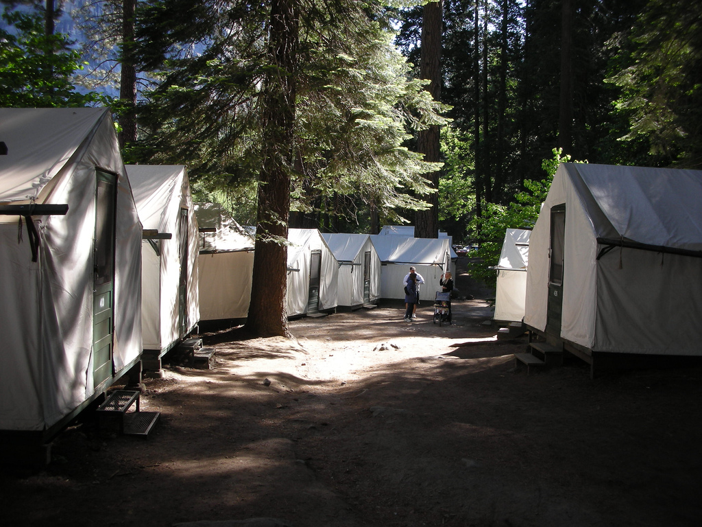 Curry Village tent cabins at Yosemite National Park. (Jun Seita: Flickr)