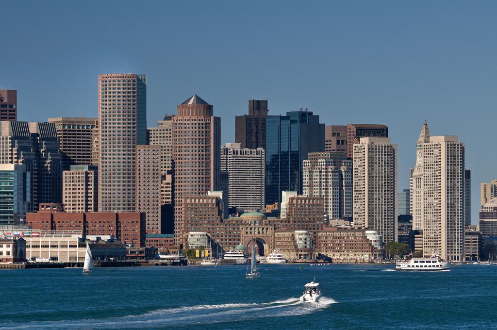 Boston, as seen from Boston harbor. (Nietnagel/Flickr)