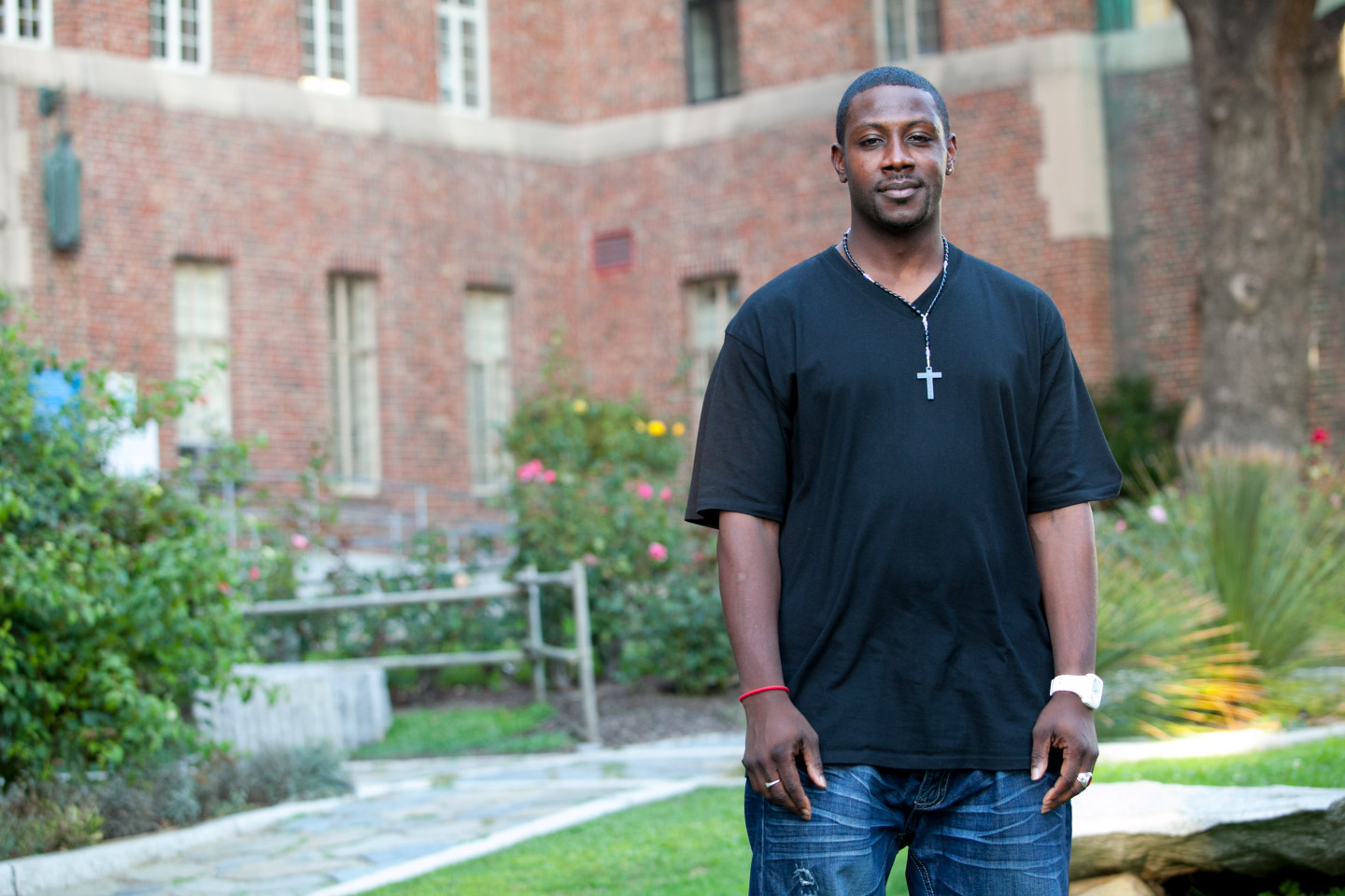 Deon, 32, is HIV positive and expecting a daughter.  He's being treated by a new San Francisco program that helps men with HIV safely realize their dreams of being dads. (Photo: Ryan Anson)