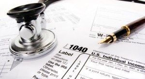 Tax Form with Stethoscope