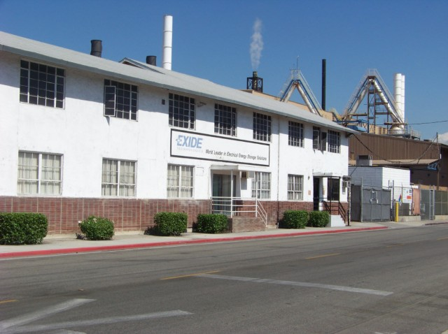The Exide Technologies plant in Vernon. (Photo/Chris Richard)