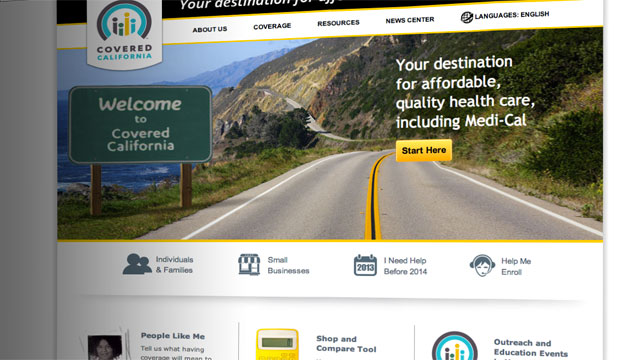 Screenshot from CoveredCA.com, the website of Covered California.