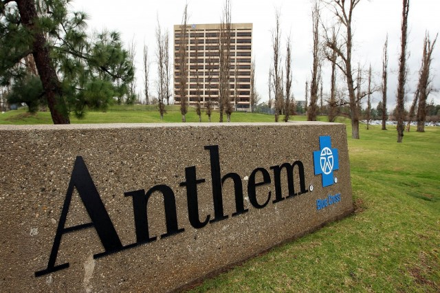 The Anthem Blue Cross headquarters in Woodland Hills, California. (David McNew/Getty Images)