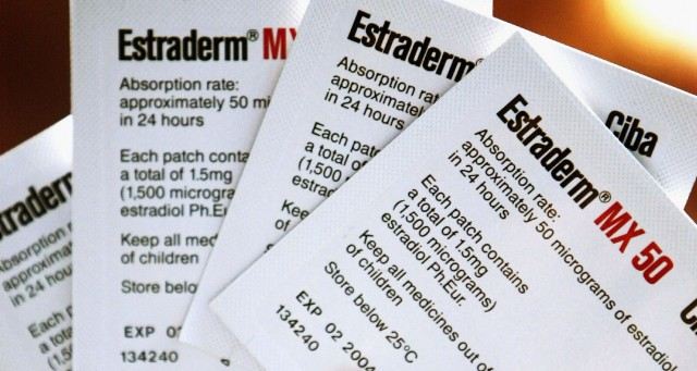 Estrogen replacement patches. (Ian Waldie/Getty Images)