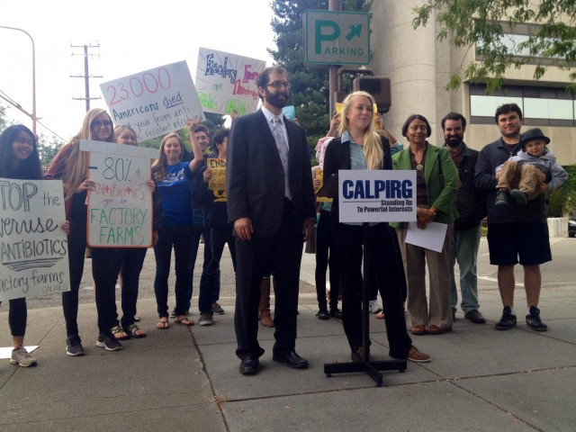 The California Public Interest Research Group held a press conference opposing the bill last week in Berkeley.