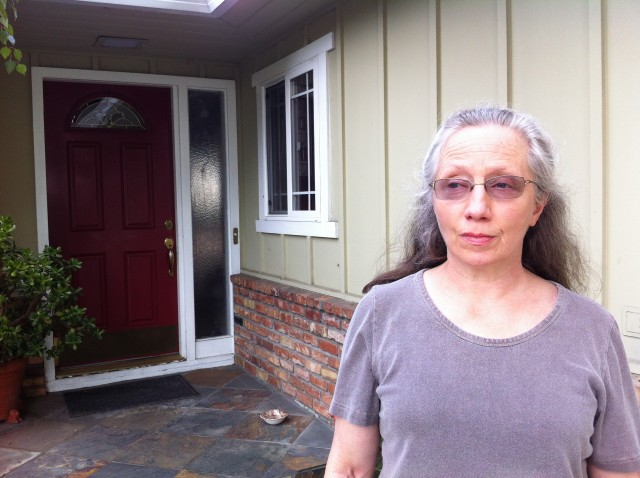 Anne-Louise Vernon in front of her home in Campbell. (Photo: Pauline Bartolone)