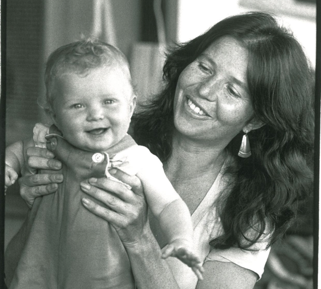 The author's wife, Pippa, and their daughter, Caitlin, who was born at home, in 1982. (Courtesy: Nick Allen)