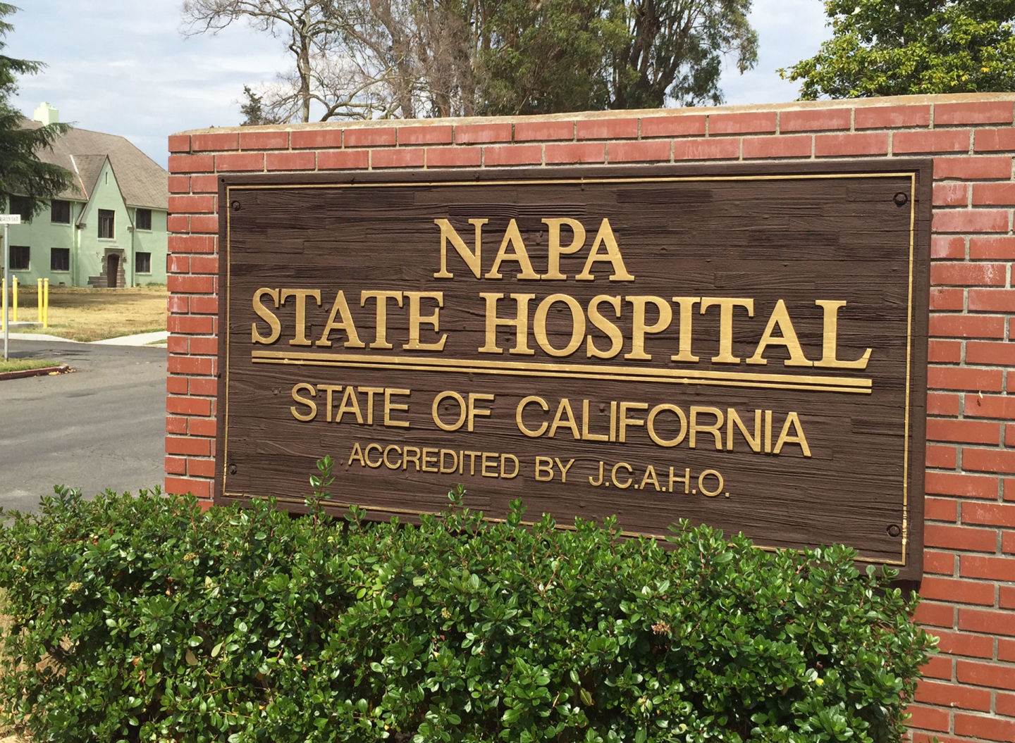 A sign at the entrance of Napa State Hospital.