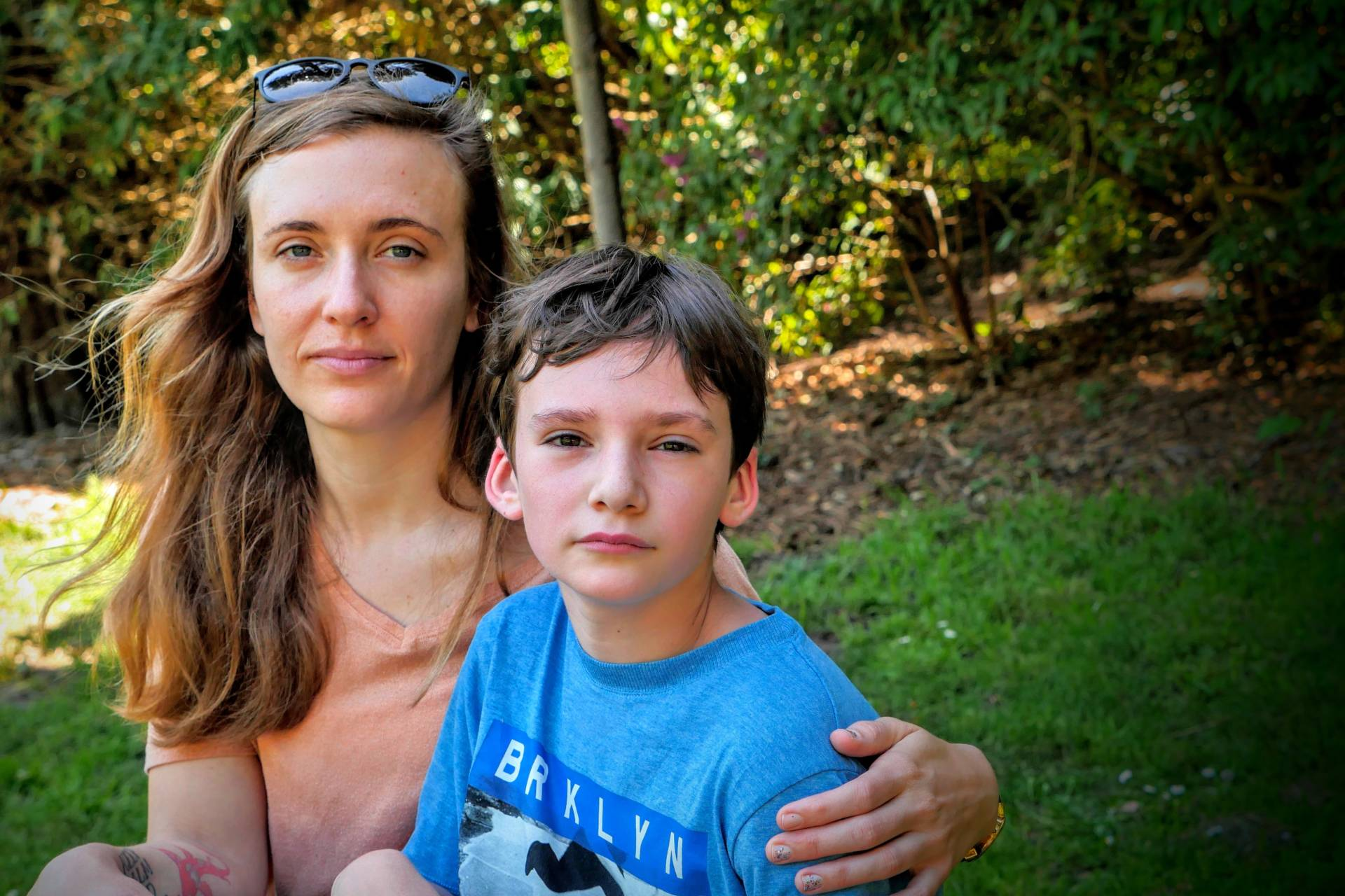 Natalie Dunnege and her son, Strazh.