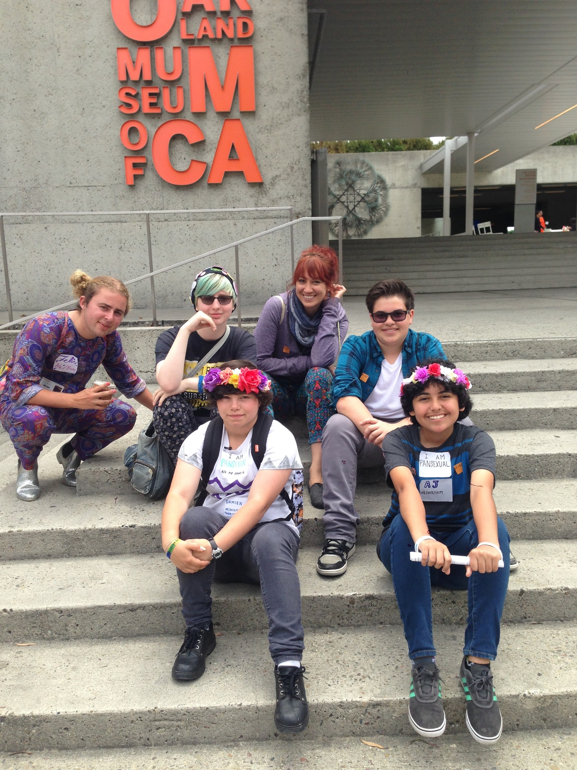 Teens in Camp Kickin' It, a day camp for transgender teens, go on an excursion to the Oakland Museum.