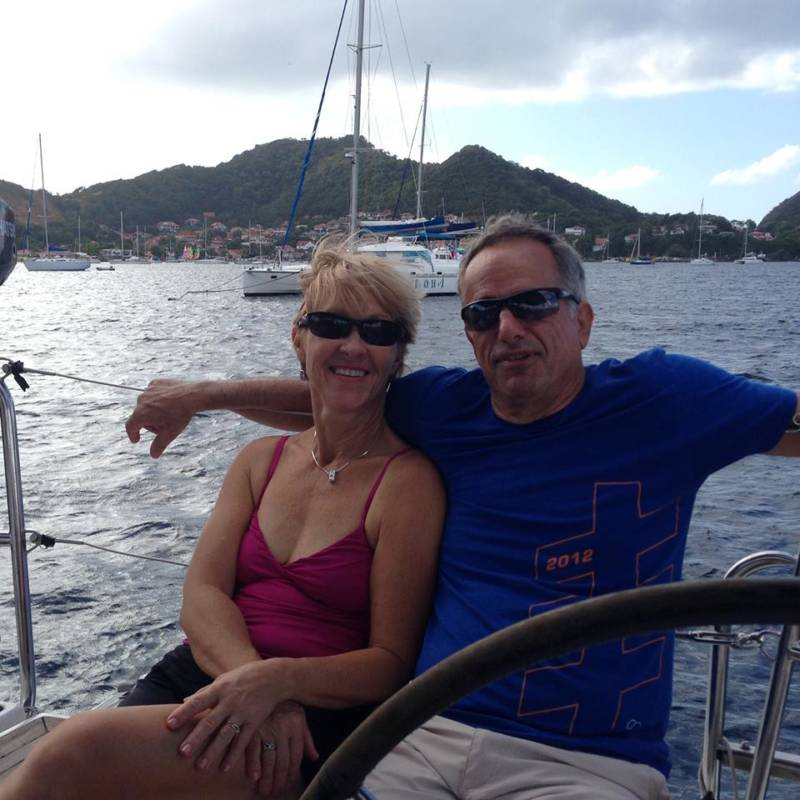 """Lina Clark and her husband David Huntley on vacation in Croatia in 2014, before he succumbed to ALS. The disease made both of them activists for the """"right to try"""" in California."""