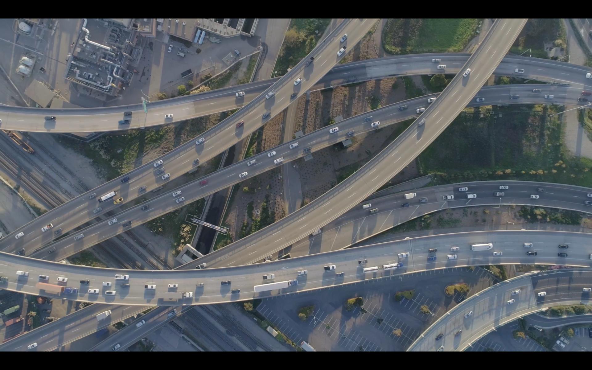 The MacArthur Maze freeway interchange in Oakland