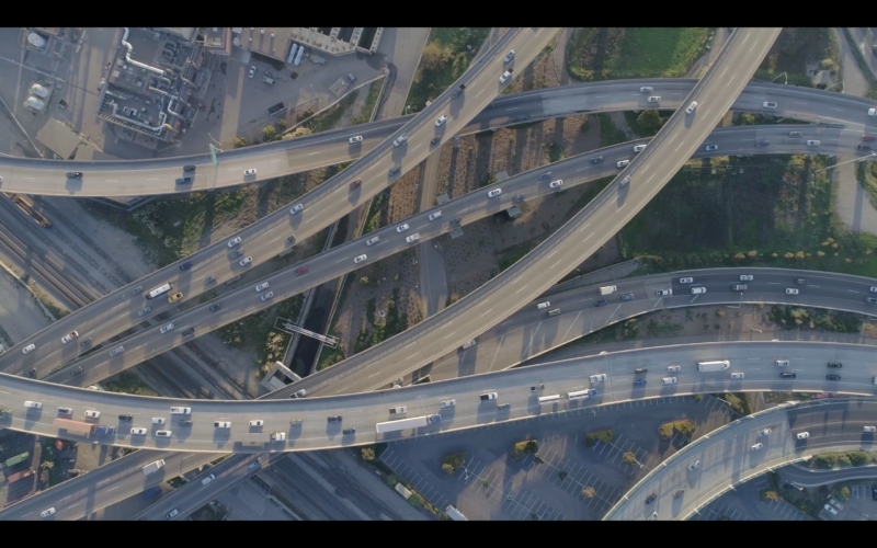 The MacArthur Maze freeway interchange in Oakland