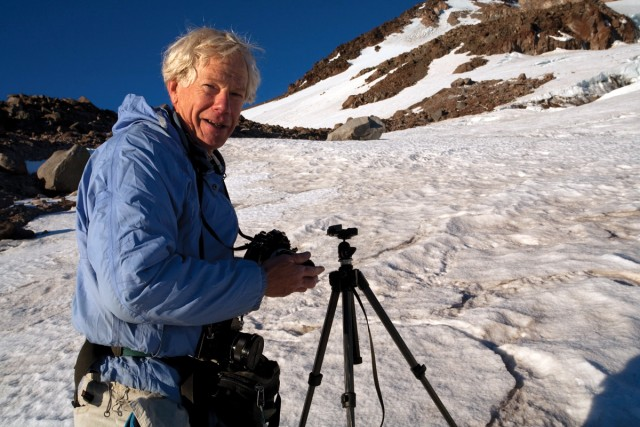 Nature photographer Tim Palmer spent several months climbing and shooting California glaciers in 2010. (Photo: Jeff Pflueger/Heyday)