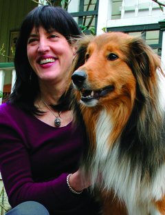 Virginia Morell and her dog, Buckeroo