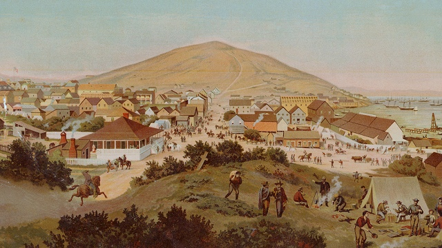 Telegraph Hill in July 1849