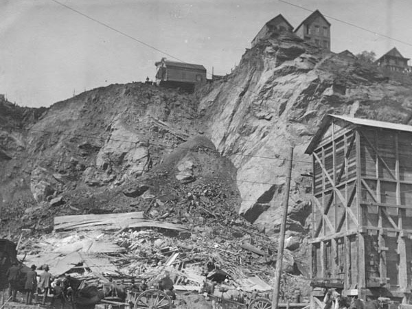 Grey Bros quarry off Telegraph Hill 1908