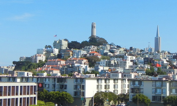 Telegraph Hill from Pier 39