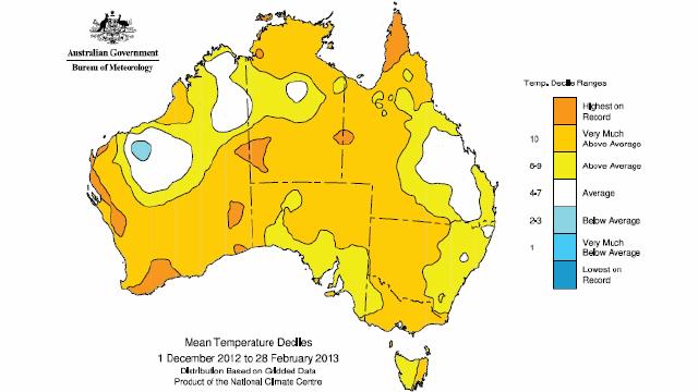 Australia climate map