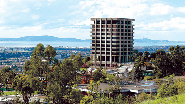 Earthquake geologist will study the demolition of Warren Hall on the Cal State East Bay campus. (Photo: Cal State East Bay)