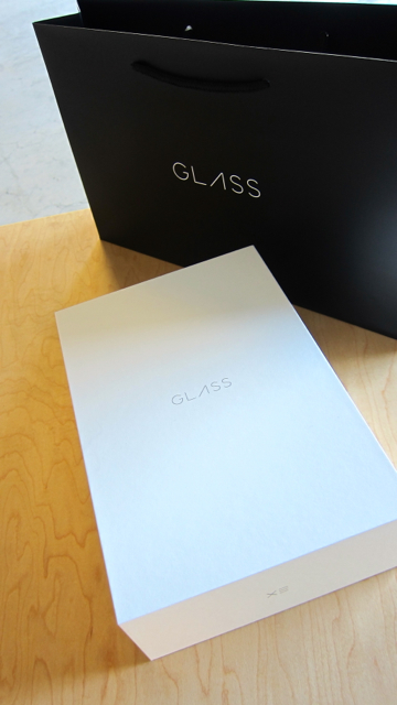 The elegant packaging of Google Glass.