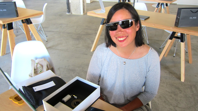 Google Glass With Tinted Lenses