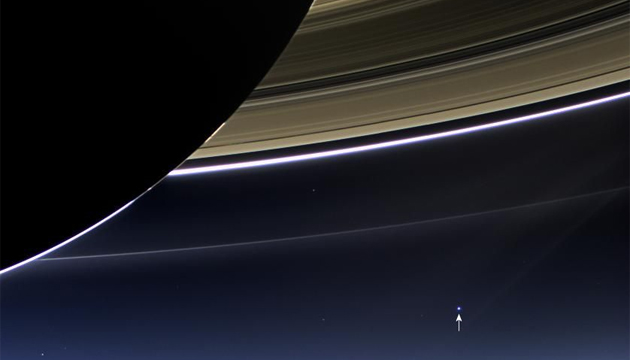 Cassini's portrait of Earth and Moon, taken July 19, 2013
