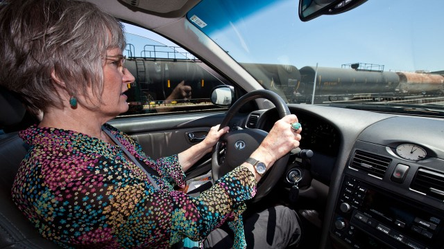 Marilyn Bardet has pushed for a more thorough review of Valero's crude-by-rail project. (Deborah Svoboda/KQED)