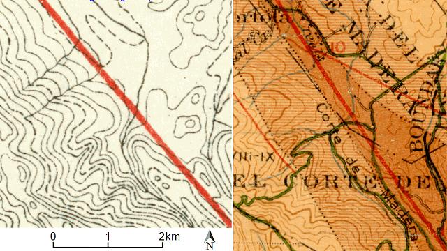 1908 fault maps