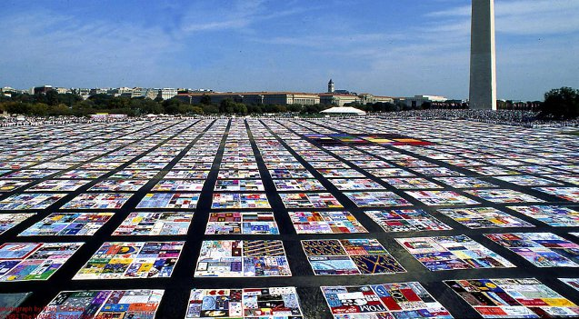 We will know in a few years if a new treatment will end up being a cure for AIDS.  This image of the AIDS quilt is courtesy of Wikimedia Commons.