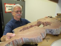 USFS geographer Carl Skinner is piecing together a fire history of California by studying tree rings. (Craig Miller/KQED)