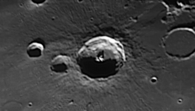 Bullialdus Crater, photo by Conrad Jung, Chabot Space & Science Center