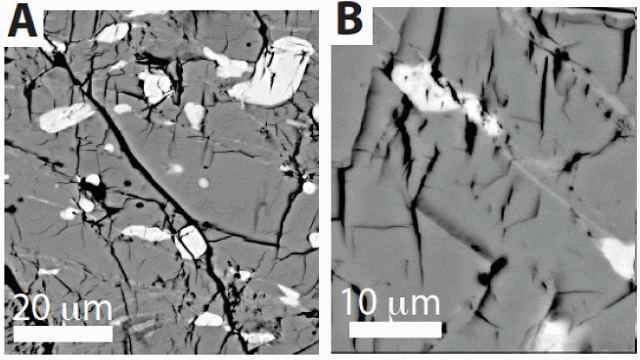 Nanofaults in olivine