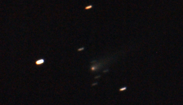 Comet ISON - Sept 8 2013 - Chabot Space & Science Center, Photo by Conrad Jung